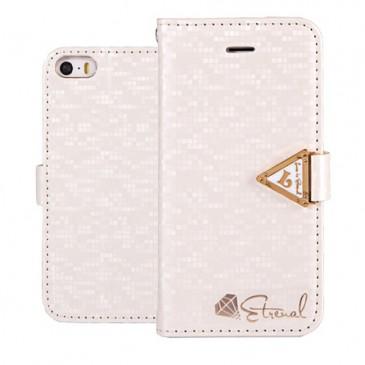 Apple iPhone 5 / 5S Valkoinen Leiers Suojakotelo