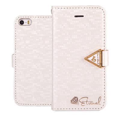 Apple iPhone 5 / 5S / SE Valkoinen Leiers Suojakotelo