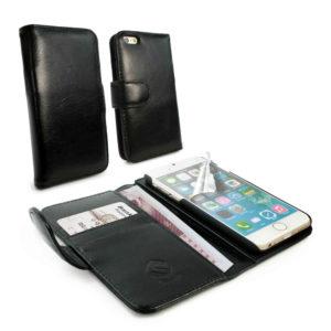 Apple iPhone 6 / 6S Musta Tuff-Luv Nahkakotelo