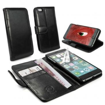 Apple iPhone 6 Plus Musta Tuff-Luv Nahkakotelo