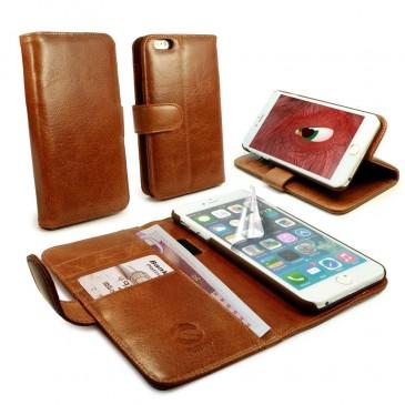 Apple iPhone 6 Plus Ruskea Tuff-Luv Nahkakotelo