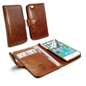 Apple iPhone 6 / 6S Ruskea Tuff-Luv Nahkakotelo