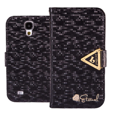 Samsung Galaxy S4 Musta Leiers Suojakotelo