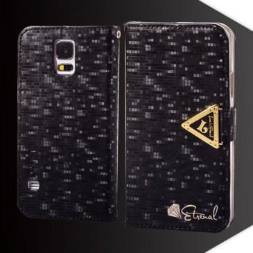 Samsung Galaxy S5 Musta Leiers Suojakotelo
