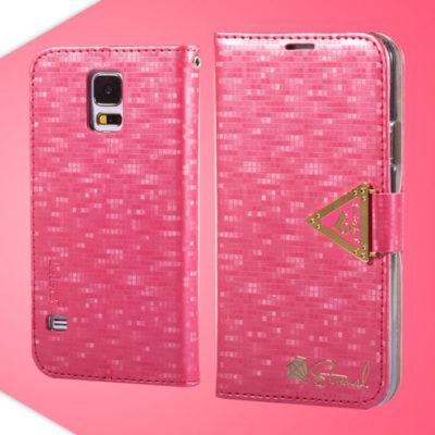 Samsung Galaxy S5 Pinkki Leiers Suojakotelo