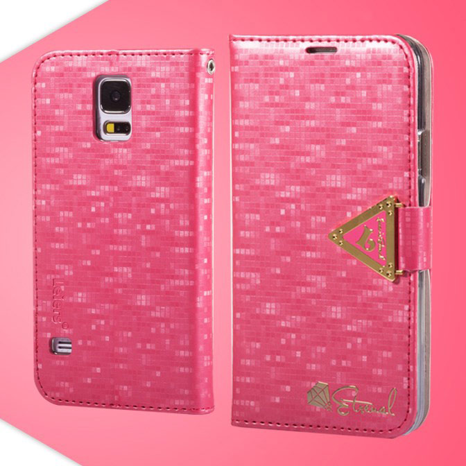 Samsung galaxy s5 pinkki leiers suojakotelo for Housse samsung s5