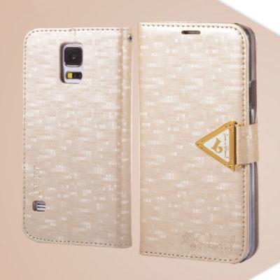 Samsung Galaxy S5 Samppanja Kulta Leiers Kotelo