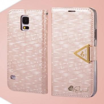 Samsung Galaxy S5 Vaaleanpunainen Leiers Kotelo