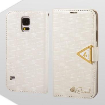 Samsung Galaxy S5 Valkoinen Leiers Suojakotelo