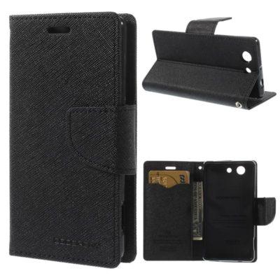 Sony Xperia Z3 Compact Musta Fancy Suojakotelo