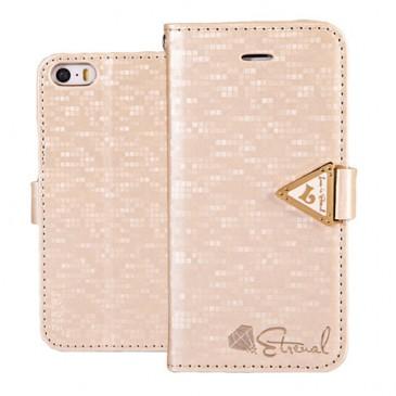 Apple iPhone 5 / 5S / SE Kultainen Leiers Suojakotelo