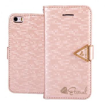 Apple iPhone 5 / 5S / SE Vaaleanpunainen Leiers Kotelo