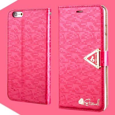 Apple iPhone 6 Plus Pinkki Leiers Suojakotelo