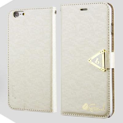 Apple iPhone 6 Plus Valkoinen Leiers Kotelo