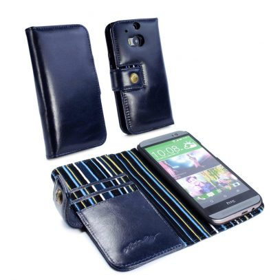 HTC One M8 Alston Craig Nahkakotelo - Royal Blue