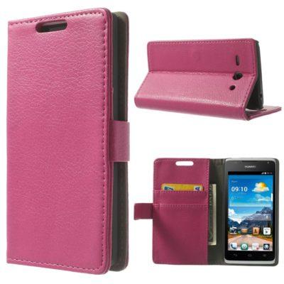 Huawei Ascend Y530 Pinkki Lompakko Suojakuori
