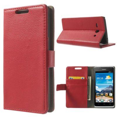 Huawei Ascend Y530 Punainen Lompakko Suojakuori