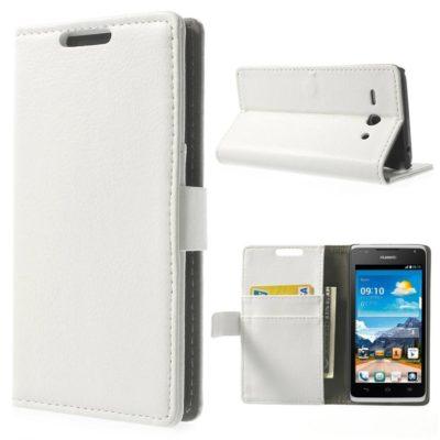 Huawei Ascend Y530 Valkoinen Lompakko Suojakuori