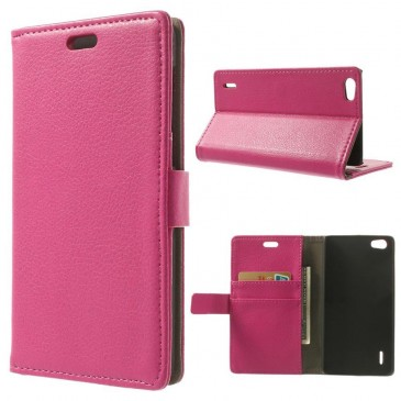 Huawei Honor 6 Pinkki Lompakko Suojakotelo