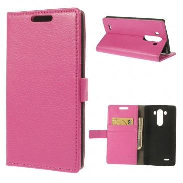 LG G3 Pinkki PU-Nahka Lompakko Suojakotelo