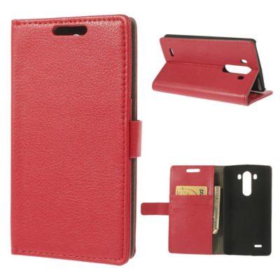 LG G3 Punainen PU-Nahka Lompakko Suojakotelo