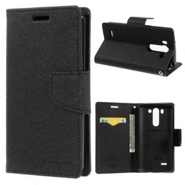 LG G3 S Musta Fancy Lompakkokotelo