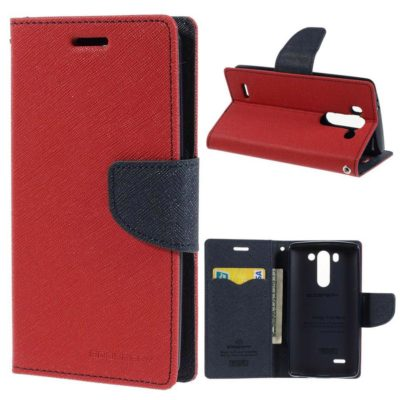 LG G3 S Punainen Fancy Lompakkokotelo