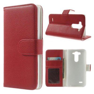 LG G3 S Punainen Lompakko Suojakotelo