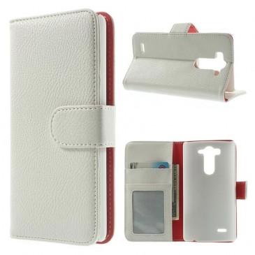 LG G3 S Valkoinen Lompakko Suojakotelo