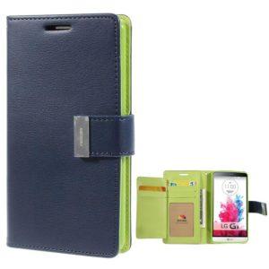 LG G3 Sininen Rich Diary Lompakkokotelo Suoja