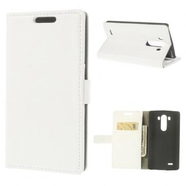 LG G3 Valkoinen PU-Nahka Lompakko Suojakotelo