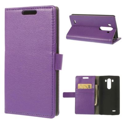 LG G3 Violetti PU-Nahka Lompakko Suojakotelo