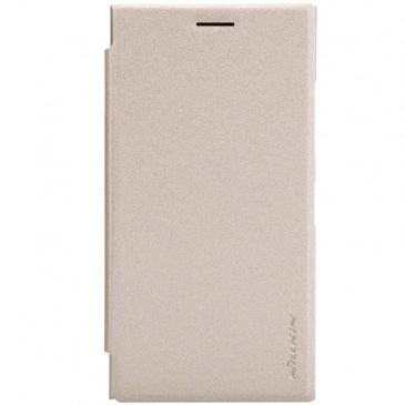 Nokia Lumia 730 / 735 Kultainen Nillkin Kotelo