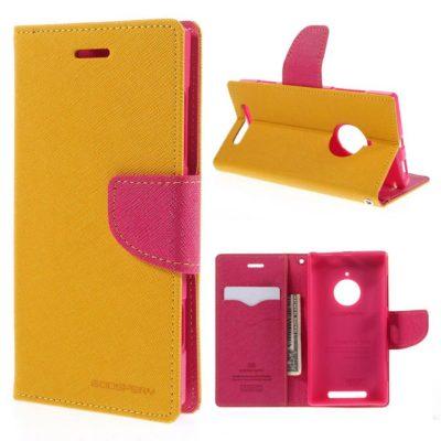 Nokia Lumia 830 Keltainen Fancy Suojakotelo