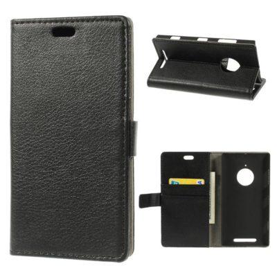 Nokia Lumia 830 Musta Lompakkokotelo Suoja