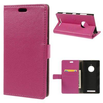 Nokia Lumia 830 Pinkki Lompakkokotelo Suoja