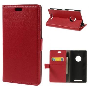 Nokia Lumia 830 Punainen Lompakkokotelo Suoja