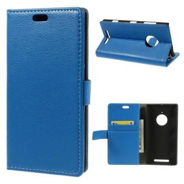 Nokia Lumia 830 Sininen Lompakkokotelo Suoja
