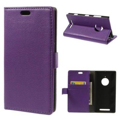 Nokia Lumia 830 Violetti Lompakkokotelo Suoja