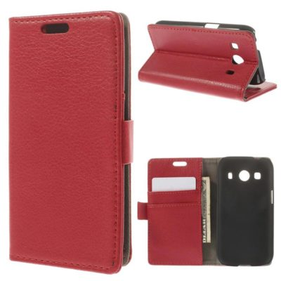 Samsung Galaxy Ace 4 Punainen Lompakko Kotelo