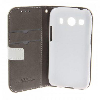 Samsung Galaxy Ace 4 Valkoinen Nahkakotelo