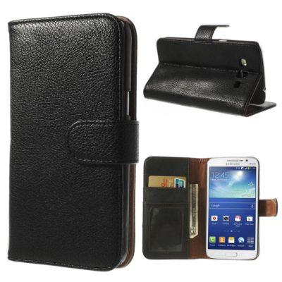 Samsung Galaxy Grand 2 Musta Lompakko Suojakotelo