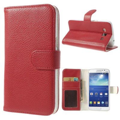 Samsung Galaxy Grand 2 Punainen Lompakkokotelo