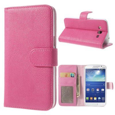 Samsung Galaxy Grand 2 Vaaleanpunainen Lompakkokotelo
