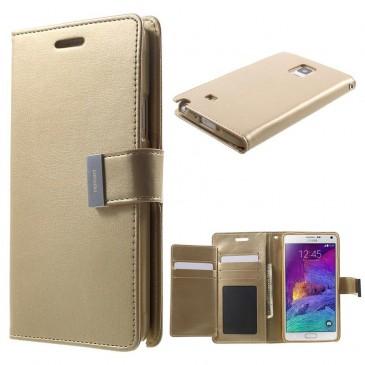 Samsung Galaxy Note 4 Kultainen Rich Diary Kotelo