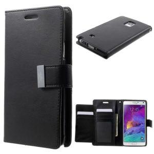 Samsung Galaxy Note 4 Musta Rich Diary Kotelo