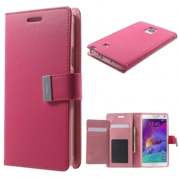 Samsung Galaxy Note 4 Pinkki Rich Diary Kotelo