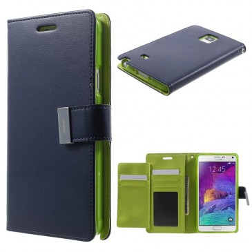 Samsung Galaxy Note 4 Sininen Rich Diary Kotelo