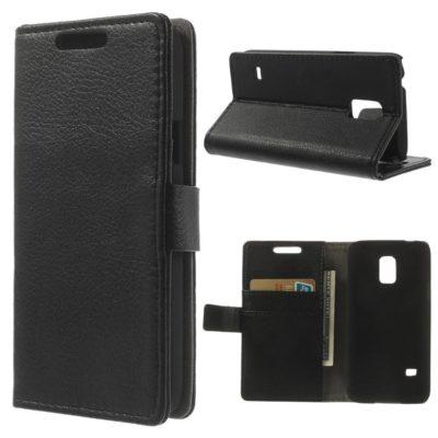 Samsung Galaxy S5 Mini Musta Lompakkokotelo
