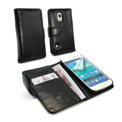 Samsung Galaxy S5 Mini Musta Tuff-Luv Nahkakotelo